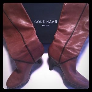 👢 COLE HAAN 👢 Tan Tall Knee High Boots Size 6.5